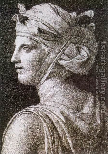 Woman in a Turban 1794 by Jacques Louis David - Reproduction Oil Painting