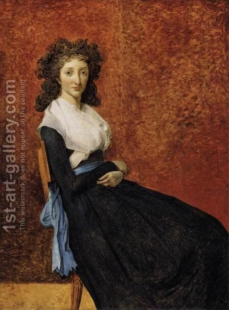 Madame Trudaine c. 1792 by Jacques Louis David - Reproduction Oil Painting
