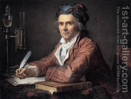 Portrait of Doctor Alphonse Leroy 1783 by Jacques Louis David - Reproduction Oil Painting