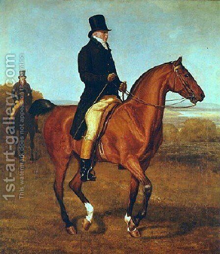 Lord Heathfield On Horseback by Jacques Laurent Agasse - Reproduction Oil Painting