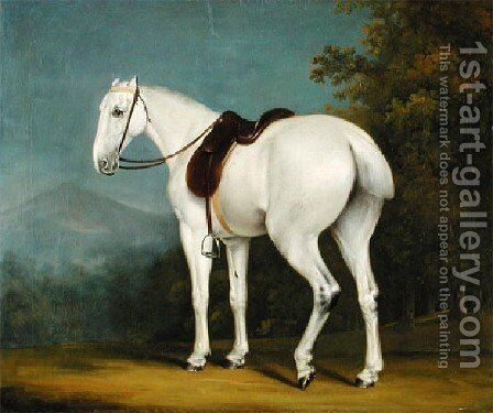 A Ladys Grey Hunter by Jacques Laurent Agasse - Reproduction Oil Painting