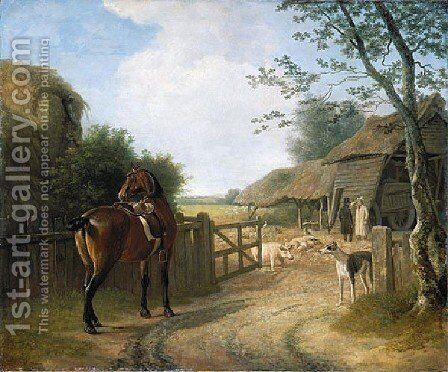 Daniel Beale At His Farm At Edmonton With His Favourite Horse by Jacques Laurent Agasse - Reproduction Oil Painting