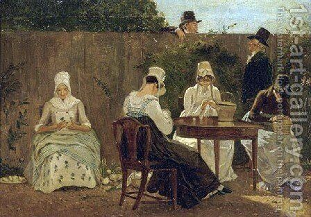 The Chalon Family In London by Jacques Laurent Agasse - Reproduction Oil Painting