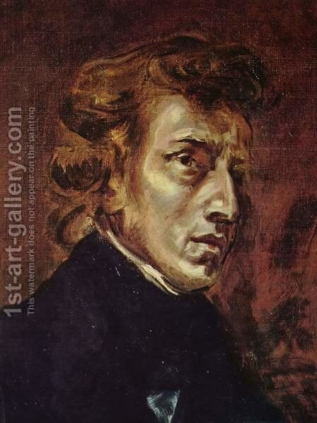 Frédéric Chopin 1838 by Eugene Delacroix - Reproduction Oil Painting