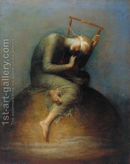 Hope by George Frederick Watts - Reproduction Oil Painting