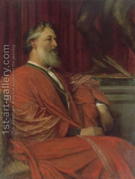 Frederic Lord Leighton  PRA by George Frederick Watts - Reproduction Oil Painting