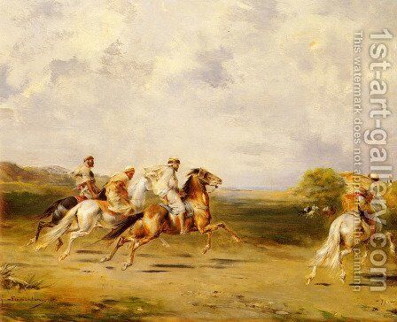 Arab Horsemen by Eugene Fromentin - Reproduction Oil Painting