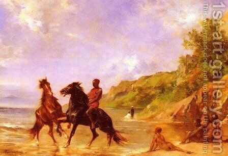 On The Nile by Eugene Fromentin - Reproduction Oil Painting
