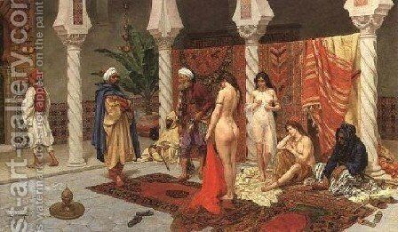 Inspection Of The New Arrivals by Giulio Rosati - Reproduction Oil Painting
