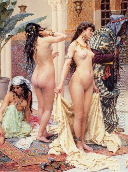 Picking The Favourite   Detail by Giulio Rosati - Reproduction Oil Painting