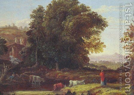 Italian Lanscape With Adueduct by George Inness - Reproduction Oil Painting