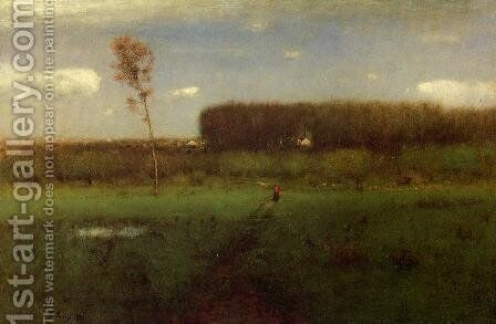 October Noon by George Inness - Reproduction Oil Painting