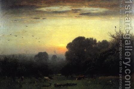 Morning by George Inness - Reproduction Oil Painting