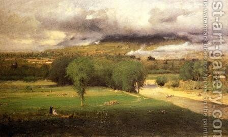 Sacco Ford  Conway Meadows by George Inness - Reproduction Oil Painting