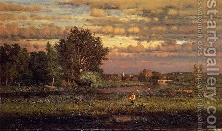 Clearing Up by George Inness - Reproduction Oil Painting