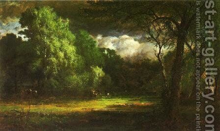 Medfield  Massachusetts by George Inness - Reproduction Oil Painting