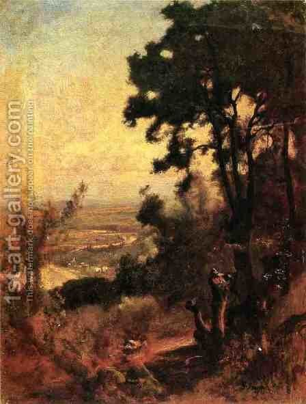 Valley Near Perugia by George Inness - Reproduction Oil Painting