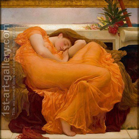 Flaming June by Lord Frederick Leighton - Reproduction Oil Painting