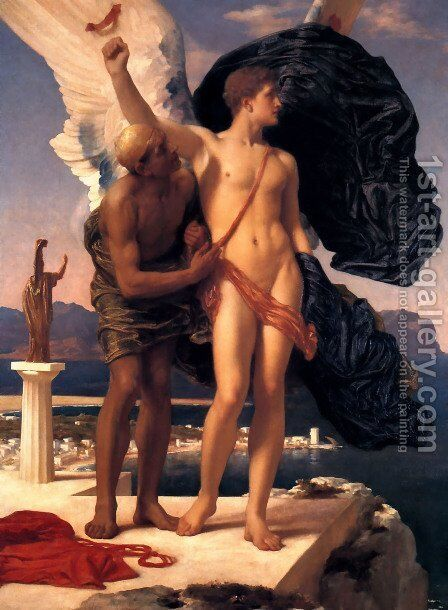 Daedalus And Icarus by Lord Frederick Leighton - Reproduction Oil Painting
