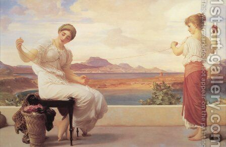 Winding The Skein by Lord Frederick Leighton - Reproduction Oil Painting
