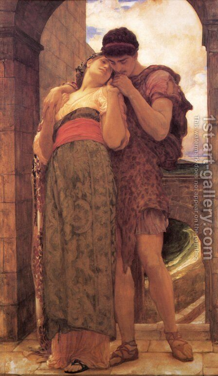 Wedded by Lord Frederick Leighton - Reproduction Oil Painting