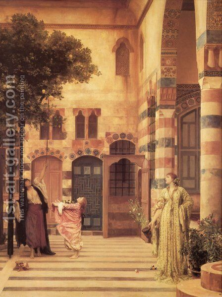 Old Damascus  Jew's Quarter by Lord Frederick Leighton - Reproduction Oil Painting