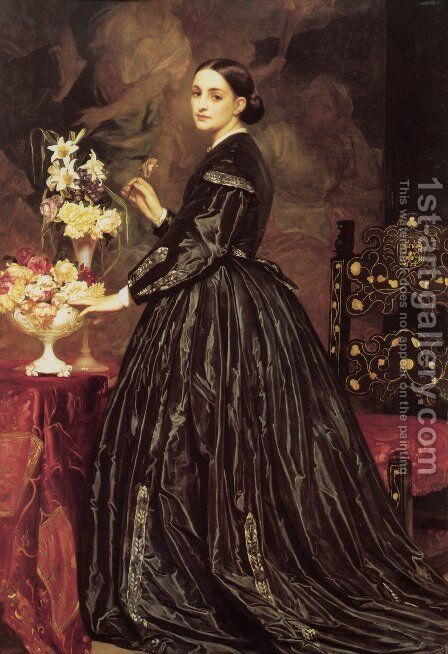 Mrs James Guthrie by Lord Frederick Leighton - Reproduction Oil Painting