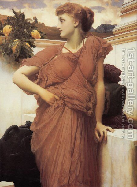 At The Fountain by Lord Frederick Leighton - Reproduction Oil Painting