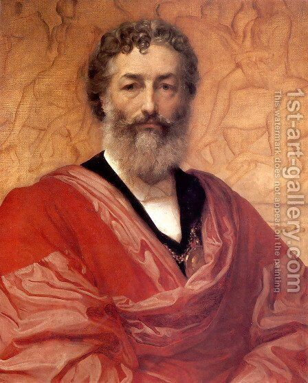 Self Portrait by Lord Frederick Leighton - Reproduction Oil Painting