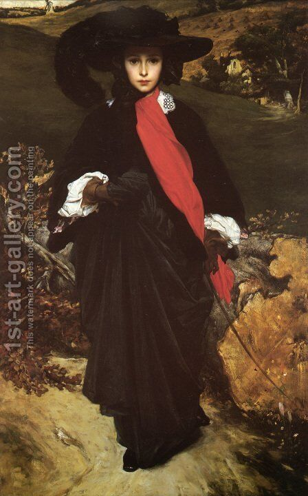 May Sartoris by Lord Frederick Leighton - Reproduction Oil Painting