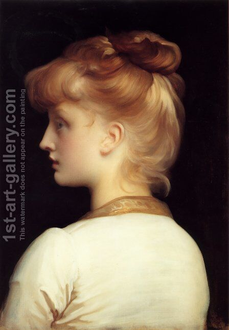 A Girl by Lord Frederick Leighton - Reproduction Oil Painting