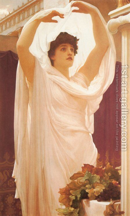 Invocation by Lord Frederick Leighton - Reproduction Oil Painting