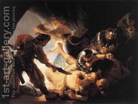 The Blinding of Samson 1636 by Rembrandt - Reproduction Oil Painting