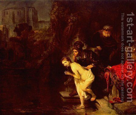 Suzanna in the Bath 1647 by Rembrandt - Reproduction Oil Painting