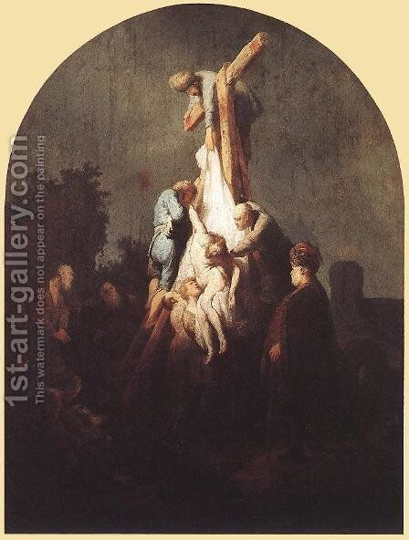 Deposition from the Cross 1634 by Rembrandt - Reproduction Oil Painting