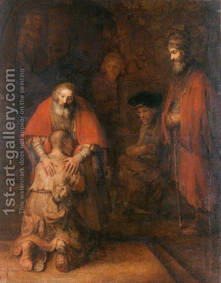 The Return of the Prodigal Son c. 1669 by Rembrandt - Reproduction Oil Painting
