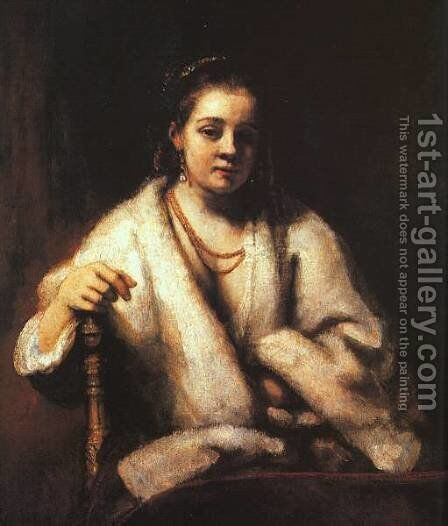 Portrait of Hendrickje Stofells 1659 by Rembrandt - Reproduction Oil Painting
