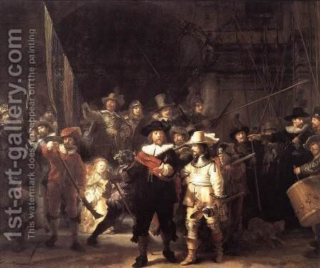The Nightwatch 1642 by Rembrandt - Reproduction Oil Painting