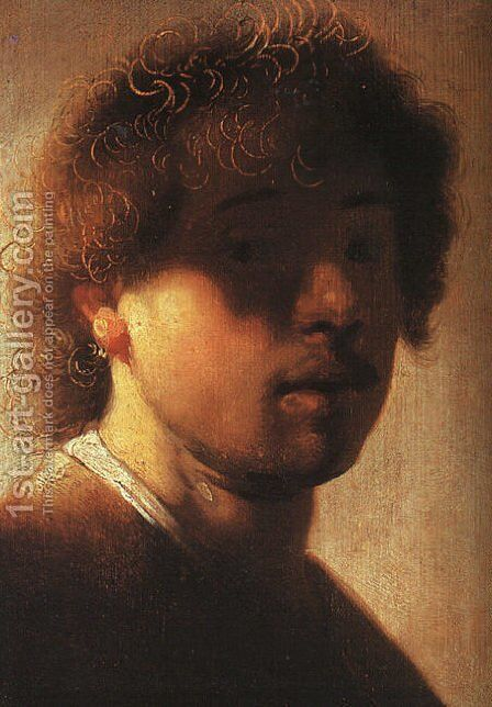 Self-Portrait 1627 by Rembrandt - Reproduction Oil Painting