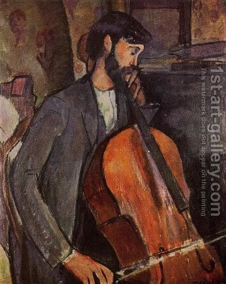 Study For The Cellist by Amedeo Modigliani - Reproduction Oil Painting