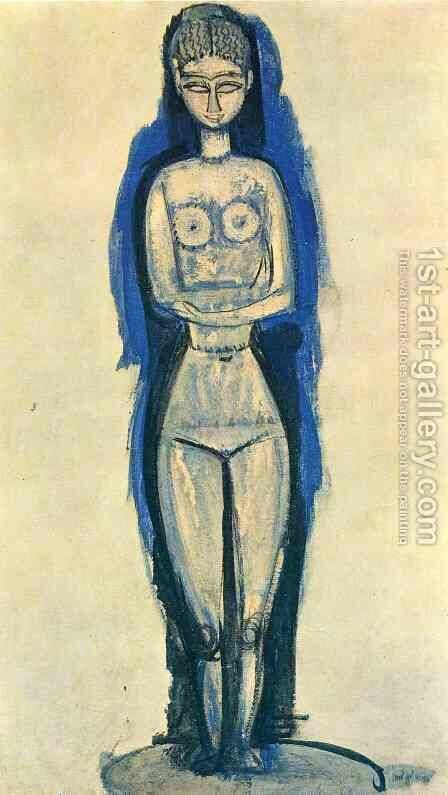 Standing Nude by Amedeo Modigliani - Reproduction Oil Painting
