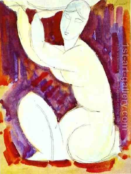 Caryatid I by Amedeo Modigliani - Reproduction Oil Painting