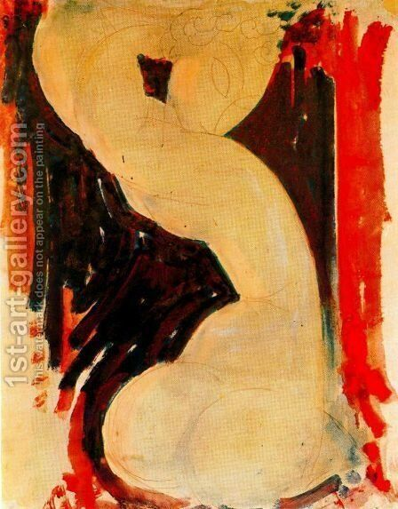 Caryatid Iii by Amedeo Modigliani - Reproduction Oil Painting