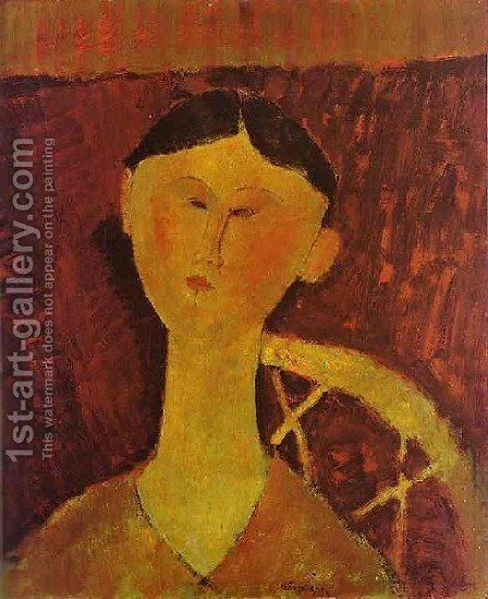 Portrait Of Beatrice Hastings by Amedeo Modigliani - Reproduction Oil Painting