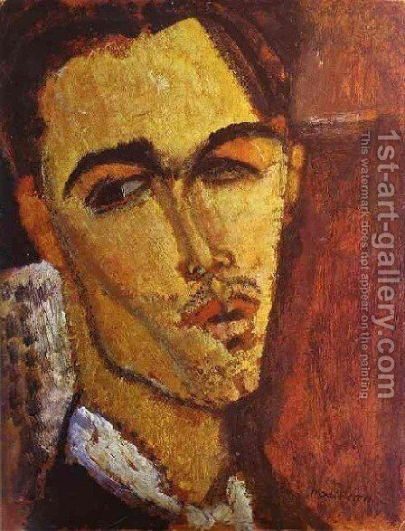 Portrait Of The Spanish Painter Celso Lagar by Amedeo Modigliani - Reproduction Oil Painting