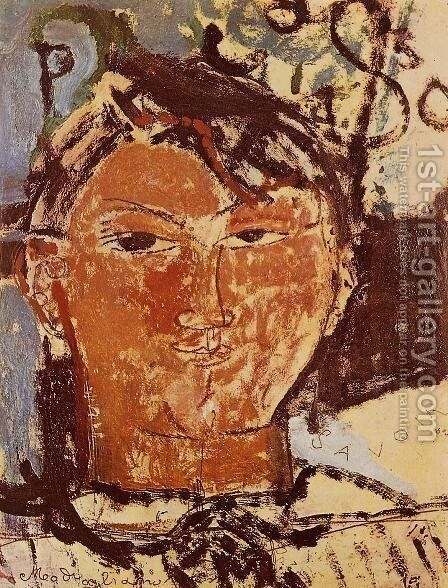 Portrait Of Pablo Picasso by Amedeo Modigliani - Reproduction Oil Painting