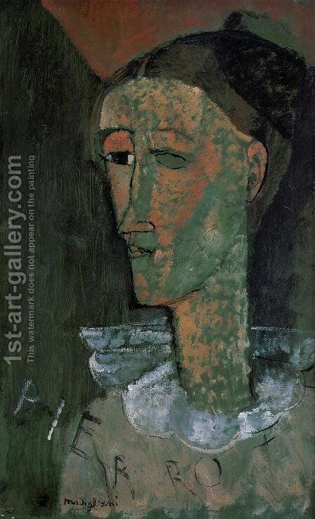 Pierrot by Amedeo Modigliani - Reproduction Oil Painting