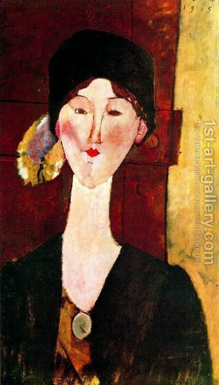 Beatris Hastings by Amedeo Modigliani - Reproduction Oil Painting