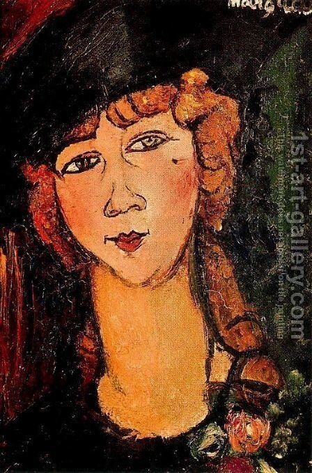 Renee The Blonde by Amedeo Modigliani - Reproduction Oil Painting