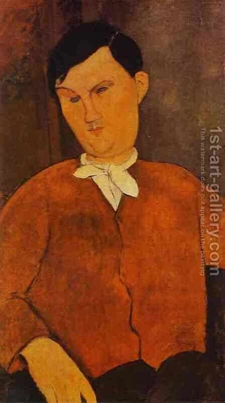 Monsieur Deleu by Amedeo Modigliani - Reproduction Oil Painting